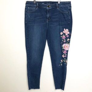 Lane Bryant Embroidered Floral Jeans